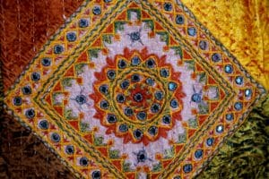 Colorful India textile