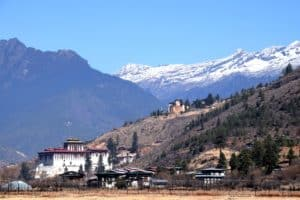 Rinpung dzong is a large fortress in Paro next to a traditional covered cantilever bridge. It has 14 shrines and chapels. Join us at our Bhutan tour.
