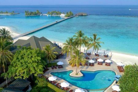 Pool at Paradise Island Resort, Maldives