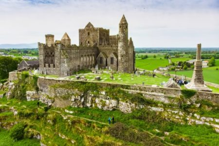 THE ROCK OF CASHEL Another old Irish legend claims the Rock of Cashel is a result of the devil taking a bite from a tall mountain called the Devil's Bit.